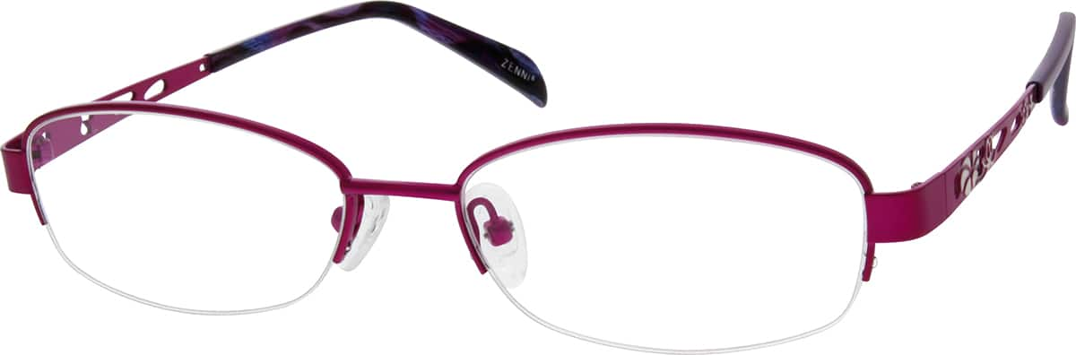 Women Half Rim Metal Eyeglasses #650717