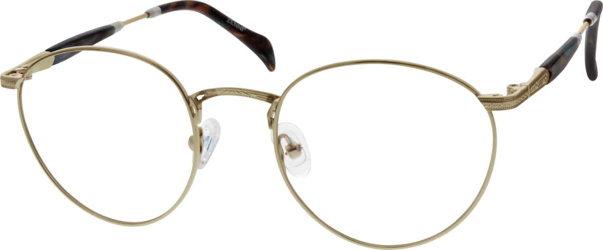 Men Full Rim Metal Eyeglasses #650811