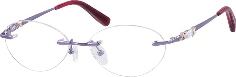 WomenRimlessMetalEyeglasses #650917