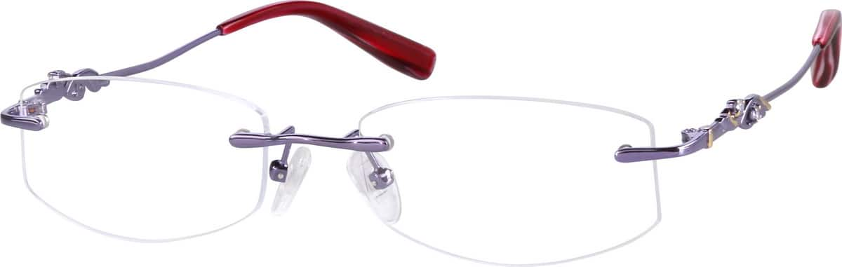 Women Rimless Metal Eyeglasses #651011