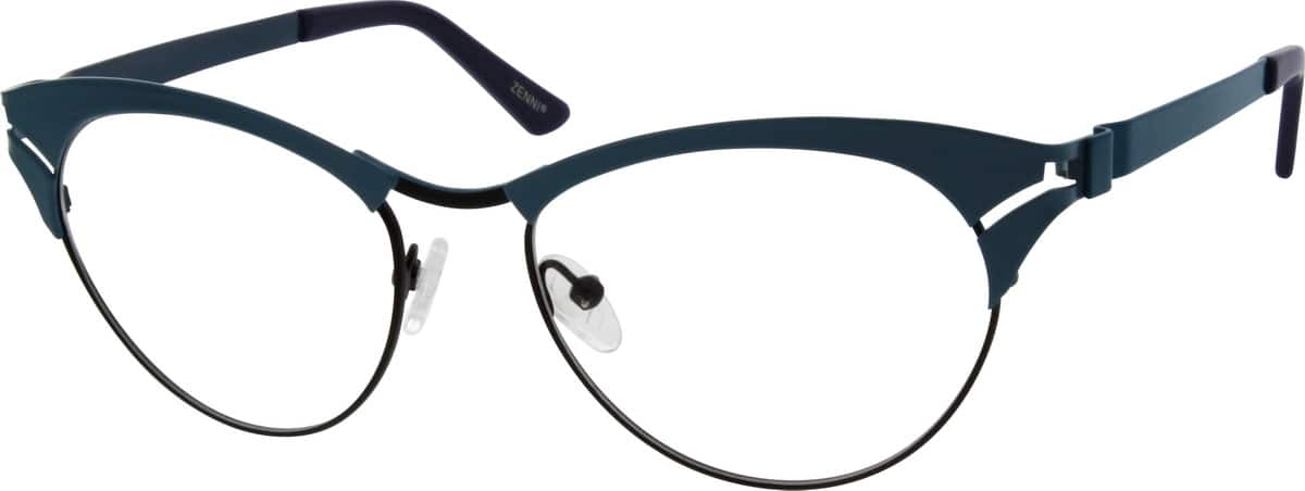 Women Full Rim Stainless Steel Eyeglasses #651516