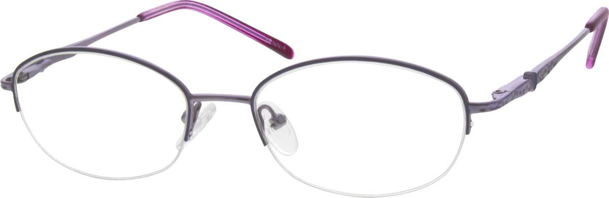 WomenHalf RimMetalEyeglasses #651824