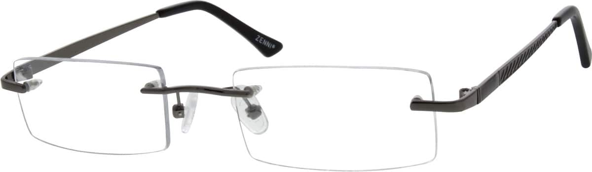 Men Rimless Metal Eyeglasses #653415