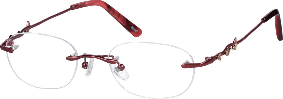 Women Rimless Metal Eyeglasses #654121