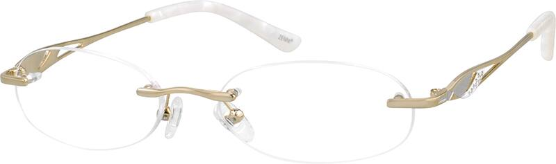 Women Rimless Metal Eyeglasses #654314