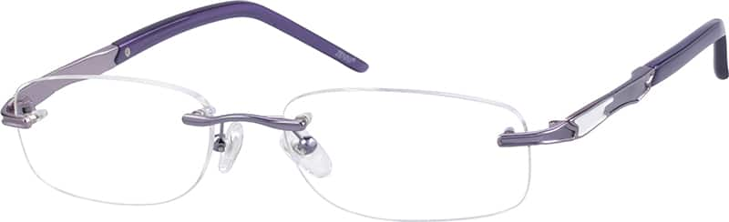 Women Rimless Metal Eyeglasses #654817