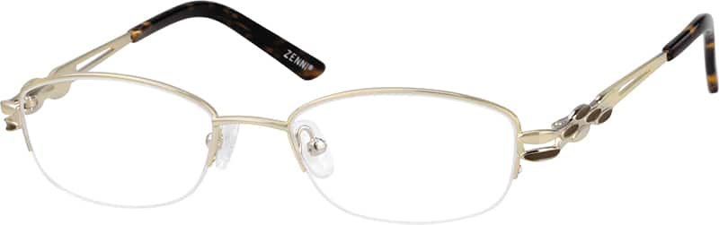 Women Half Rim Metal Eyeglasses #654914