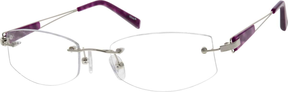 Women Rimless Metal Eyeglasses #655411