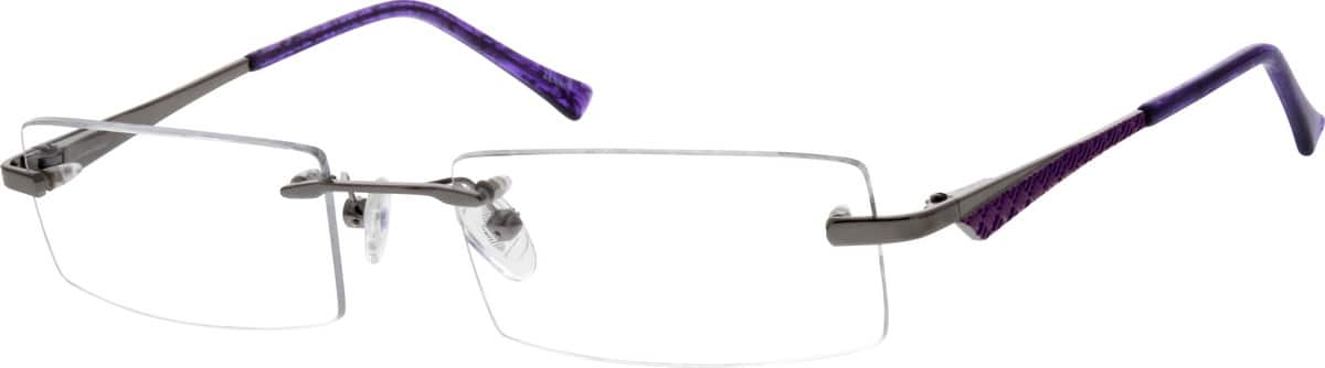 Women Rimless Metal Eyeglasses #655612
