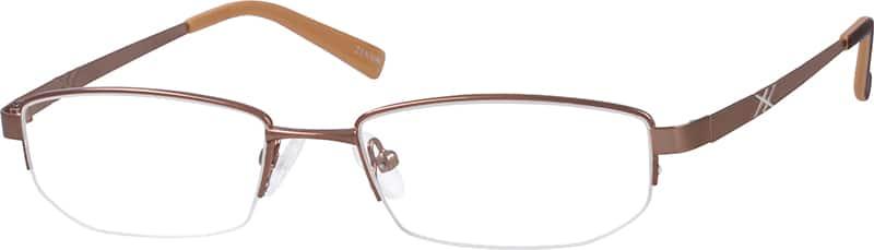 WomenHalf RimMetalEyeglasses #655921