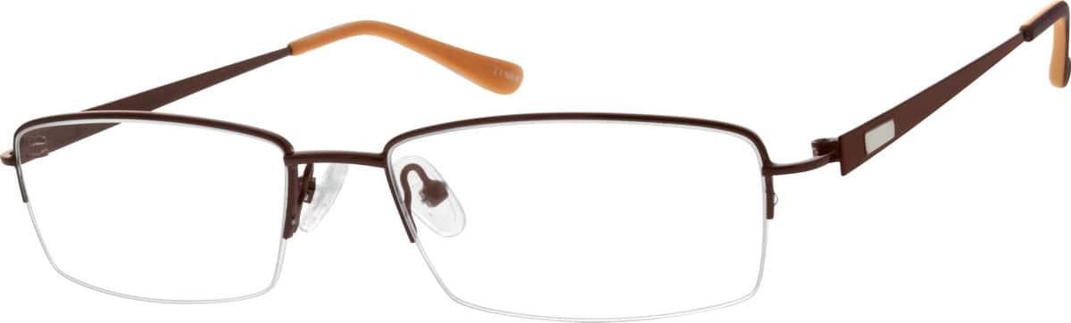 MenHalf RimMetalEyeglasses #656015