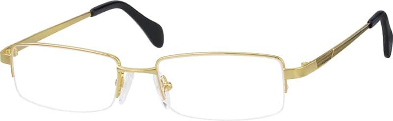 MenHalf RimMetalEyeglasses #656114