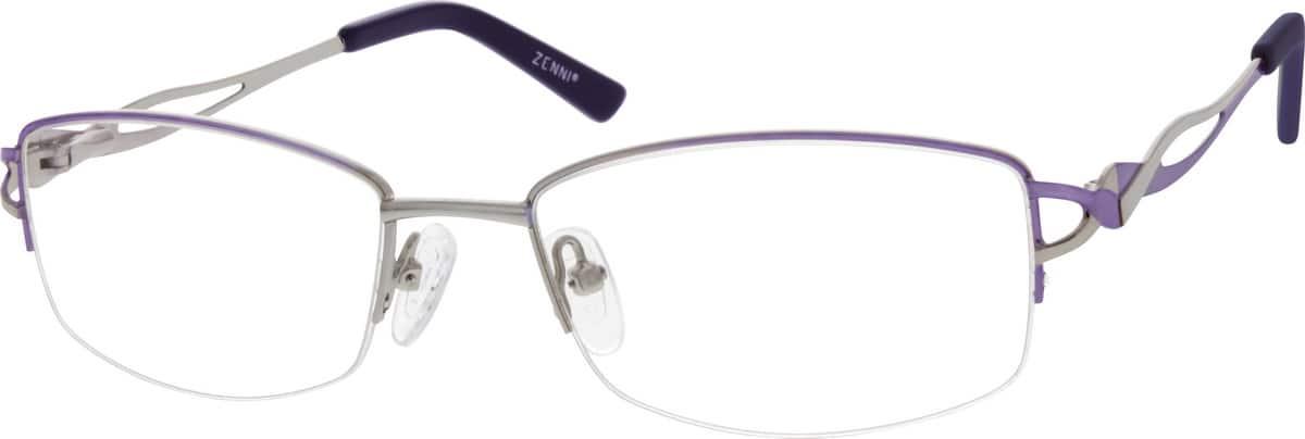 WomenHalf RimMetalEyeglasses #656419