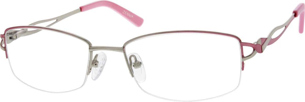 Women Half Rim Metal Eyeglasses #656419