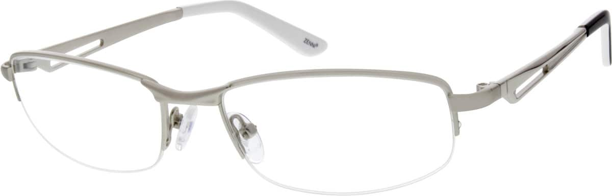 Men Half Rim Stainless Steel Eyeglasses #657611