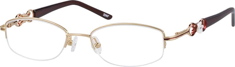 Women Half Rim Metal Eyeglasses #657914