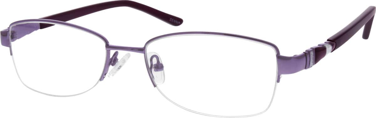 Women Half Rim Metal Eyeglasses #658117