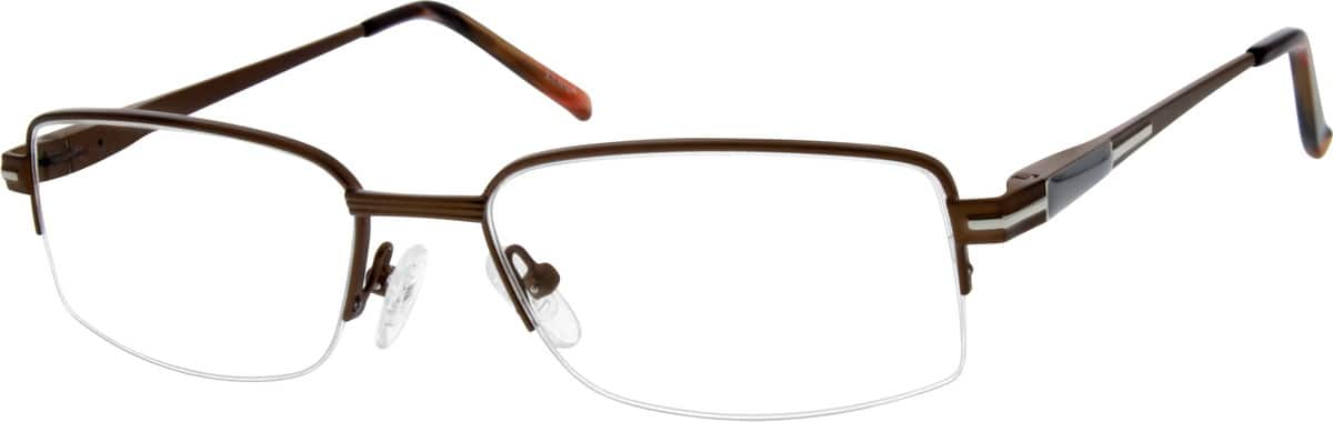 MenHalf RimMetalEyeglasses #658415