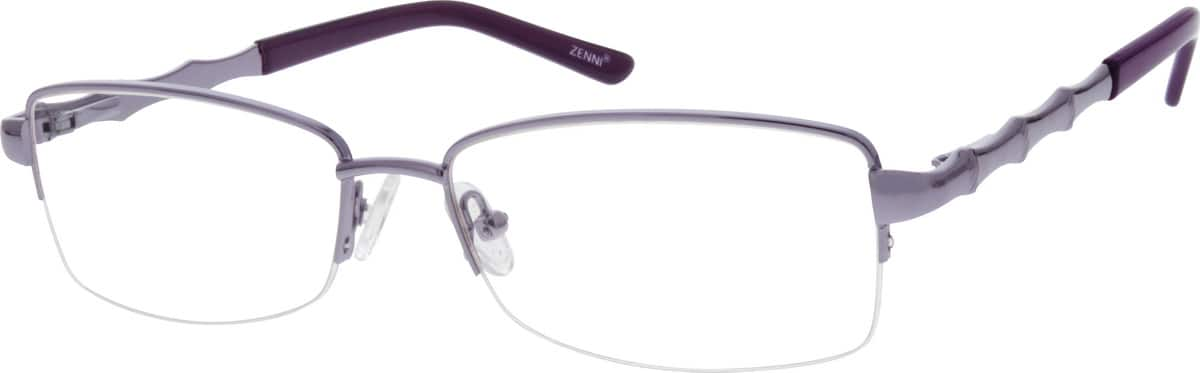 womens-metal-nickel-alloy-stainless-steel-half-rim-eyeglass-frame-spring-hinges-658917