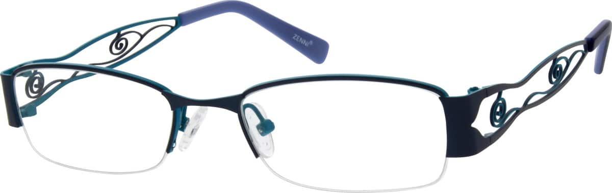 WomenHalf RimStainless SteelEyeglasses #659212