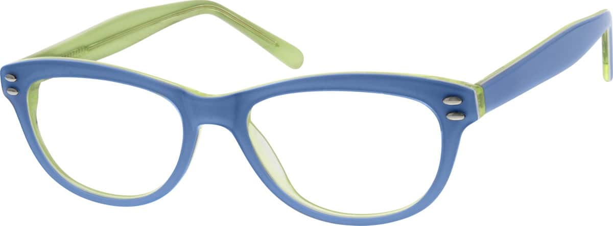 Girl Full Rim Acetate/Plastic Eyeglasses #660917