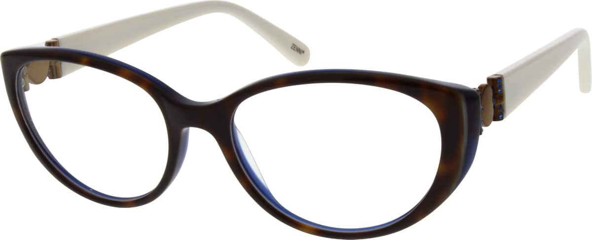 Acetate Eyeglasses Frame : Tortoiseshell Acetate Full-Rim Frame #6615 Zenni Optical ...