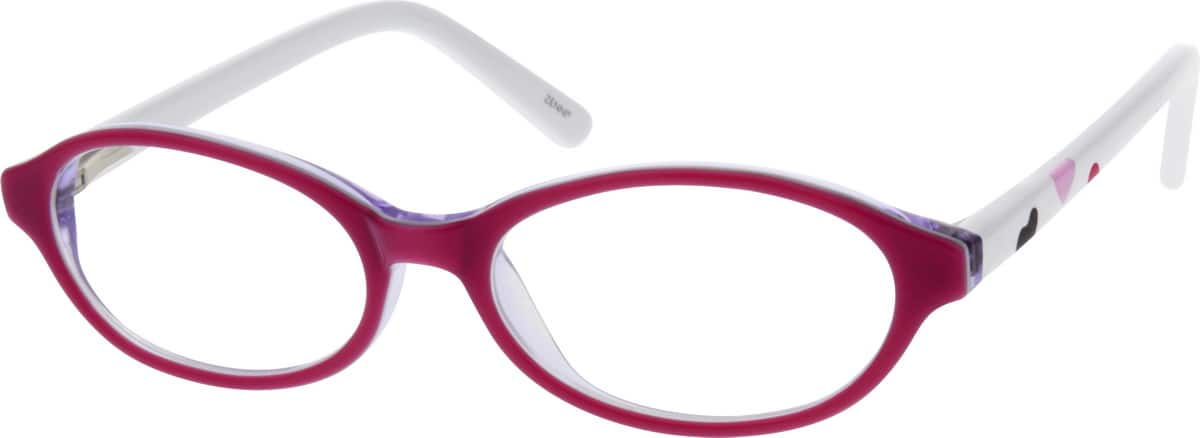 Girl Full Rim Acetate/Plastic Eyeglasses #662317