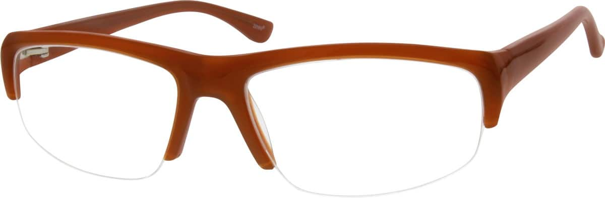 Men Half Rim Acetate/Plastic Eyeglasses #664415