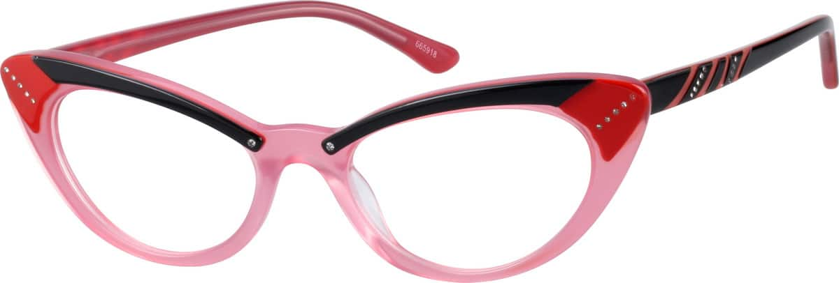 Women Full Rim Acetate/Plastic Eyeglasses #665918