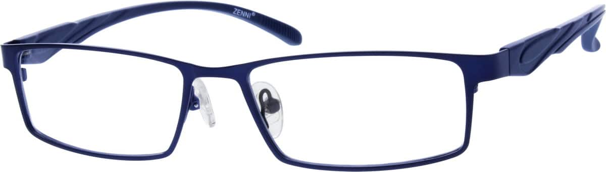 Men Full Rim Mixed Materials Eyeglasses #670215