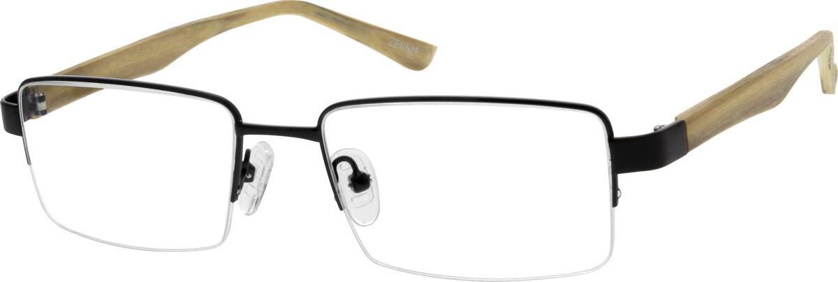 MenHalf RimMixed MaterialsEyeglasses #670321