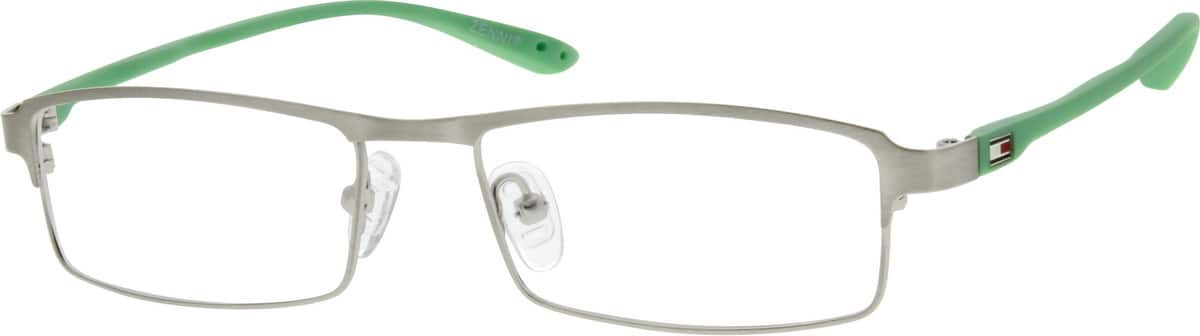 Unisex Full Rim Mixed Materials Eyeglasses #670411