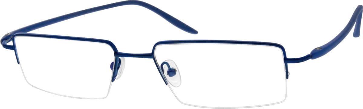 Men Half Rim Mixed Materials Eyeglasses #670616