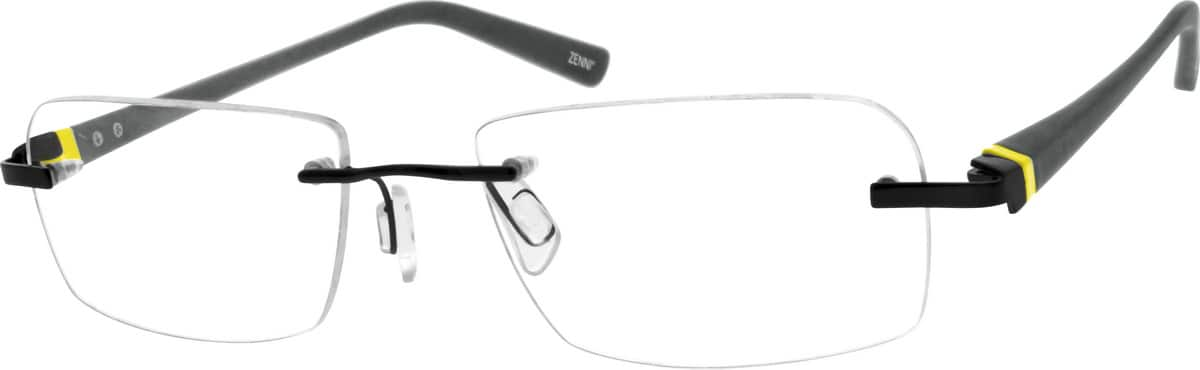 Men Rimless Mixed Materials Eyeglasses #670916