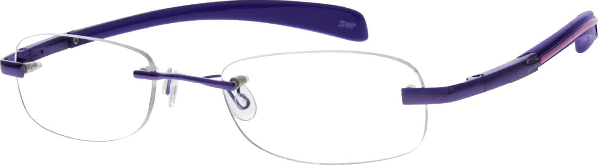 Women Rimless Mixed Materials Eyeglasses #671021