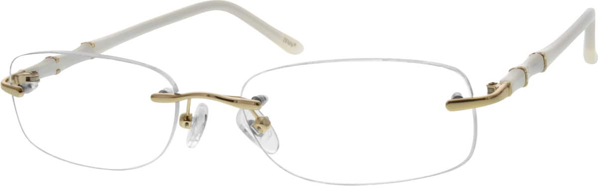 rimless-metal-alloy-eyeglass-frames-with-acetate-temples-672114