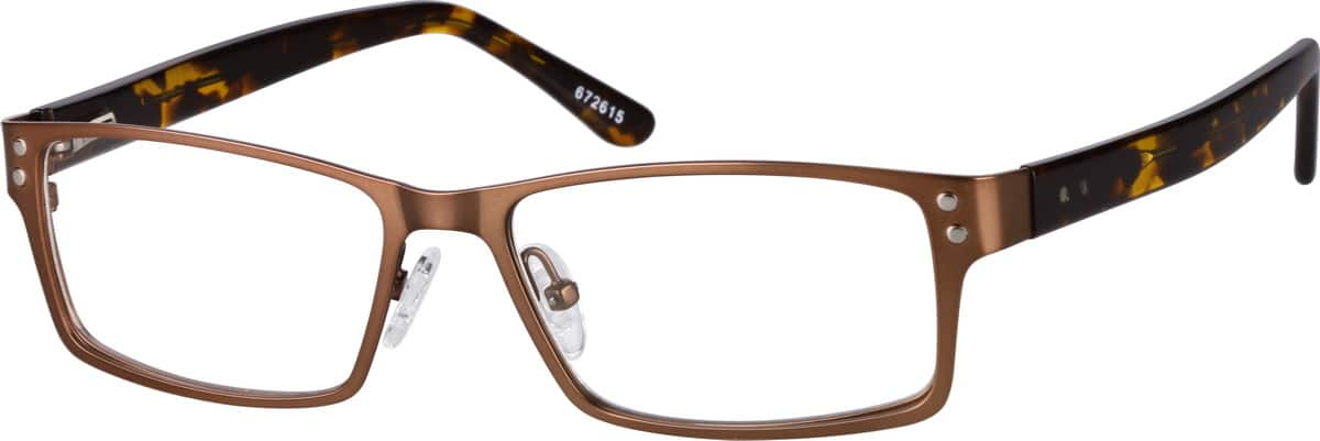 Men Full Rim Mixed Materials Eyeglasses #672615