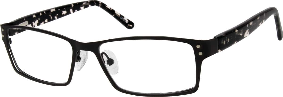 Men Full Rim Mixed Materials Eyeglasses #672621