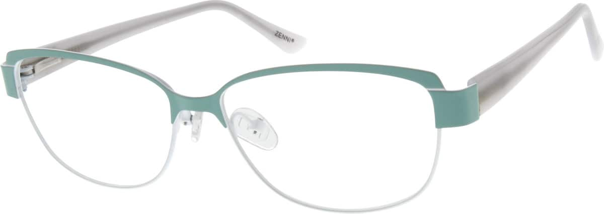 Women Full Rim Mixed Materials Eyeglasses #672721