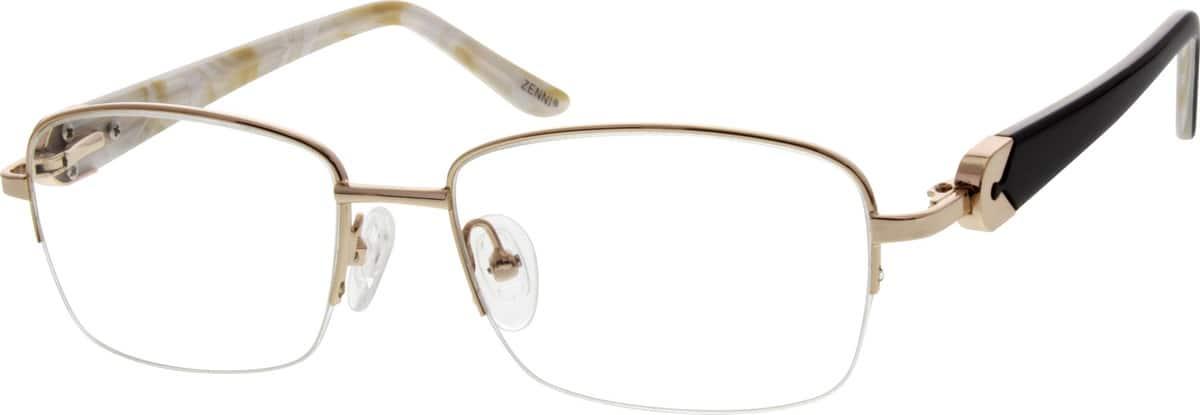 WomenHalf RimMixed MaterialsEyeglasses #672914