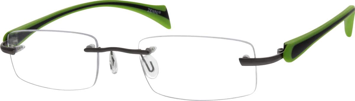 MenRimlessMixed MaterialsEyeglasses #673512