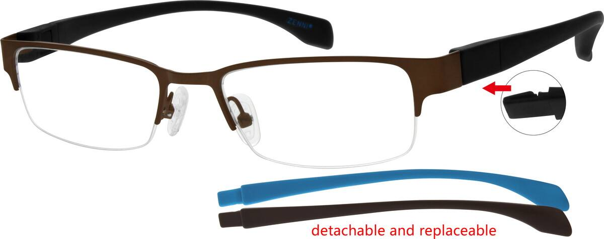 MenHalf RimMixed MaterialsEyeglasses #673815