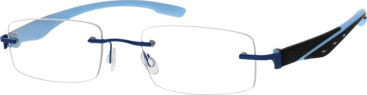 Men Rimless Mixed Materials Eyeglasses #675316