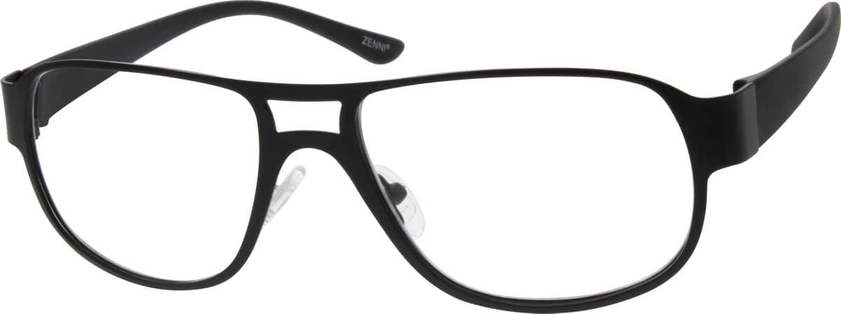 Stainless Steel Full-Rim Frame With Plastic Temples