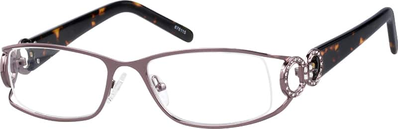Women Full Rim Mixed Materials Eyeglasses #676112