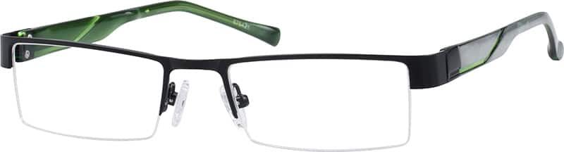 stainless-steel-half-rim-eyeglass-frame-with-plastic-temples-676421