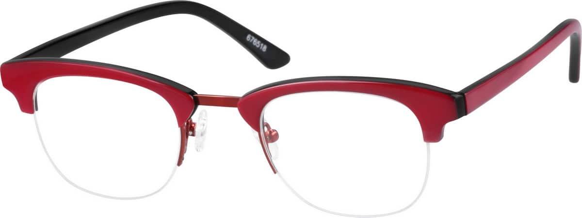 WomenHalf RimMixed MaterialsEyeglasses #676518