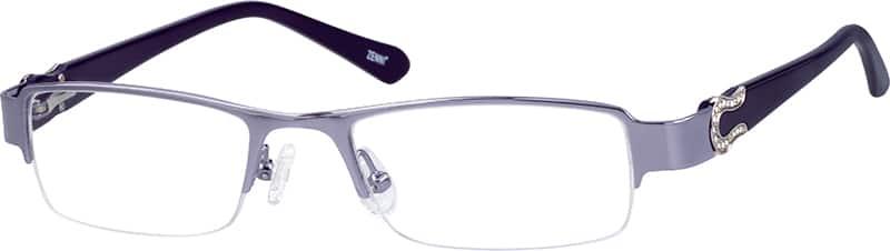 womens-half-rim-eyeglass-frame-with-acetate-temples-676717