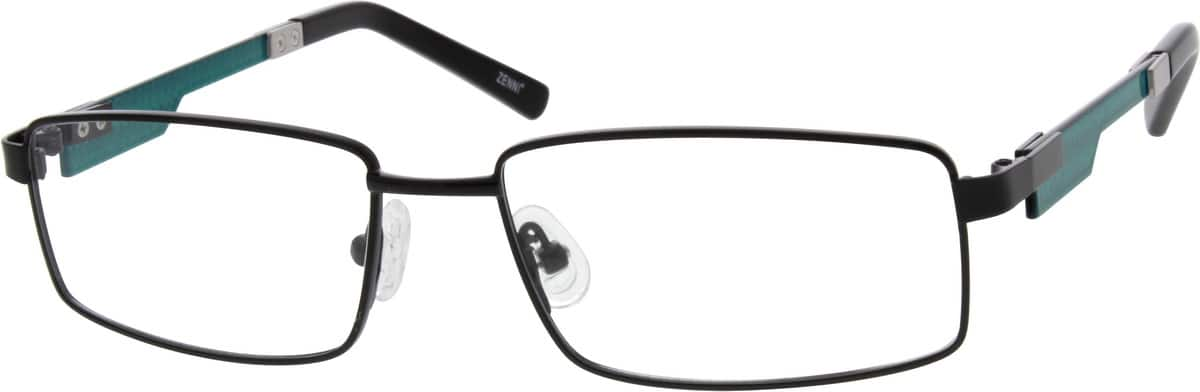 Men Full Rim Mixed Materials Eyeglasses #676916