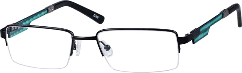 stainless-steel-half-rim-eyeglass-frame-with-acetate-temples-677021